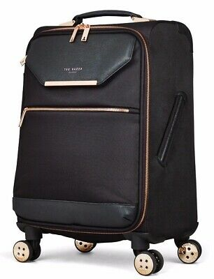 Ted Baker Albany / Ameria Medium Suitcase, Black With Rose Gold Trim, NEW • 50£