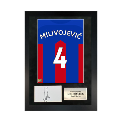 £109.99 • Buy Authentic Hand-signed A3 Frame Luka Milivojević Palace Shirt Poster W/ COA