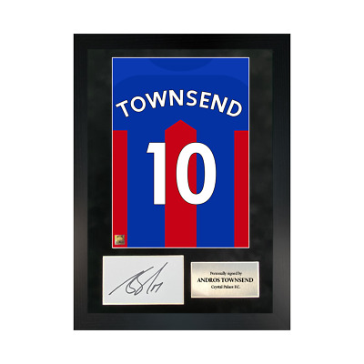 £109.99 • Buy Authentic Hand-signed A3 Frame Andros Townsend Palace Shirt Poster W/ COA