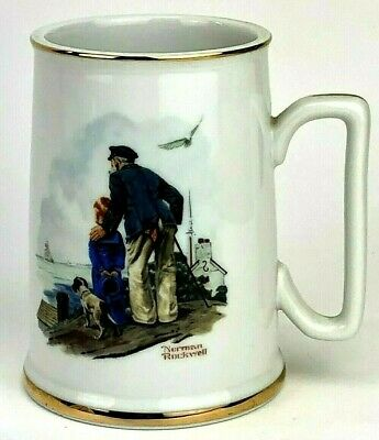 $ CDN10.69 • Buy Norman Rockwell Mug 1984 'Looking Out To Sea' The Seafarer's Tankard Collection
