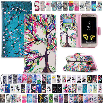 AU14.89 • Buy For Samsung Galaxy J2 Pro 2018 Flip Leather Magnetic Patterned Wallet Case Cover