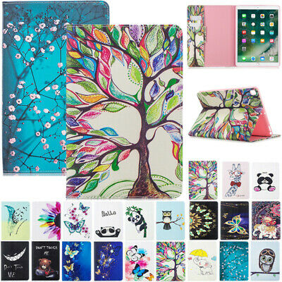 AU20.89 • Buy For IPad 5/6/7/8th Gen Mini 1 2 3 Patterned Flip Leather Wallet Stand Case Cover