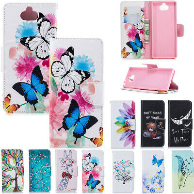 AU14.88 • Buy For Sony Xperia XA XA1 XZ Premium Patterned Magnetic Leather Wallet Case Cover
