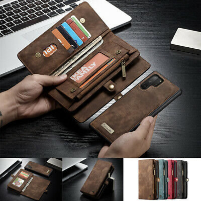 AU28.89 • Buy For Samsung S7 S20+ Note 8 10+ Removable Magnetic Flip Leather Wallet Case Cover