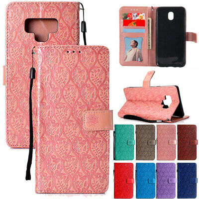 AU14.88 • Buy For Samsung S9 S20+ A20 A51 Magnetic Flip Leather Wallet Card Stand Case Cover