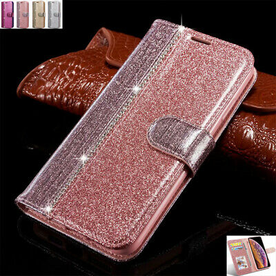 AU15.88 • Buy For IPhone 11Pro Max 6s 7 8+ Bling Magnetic Flip Leather Stand Wallet Case Cover