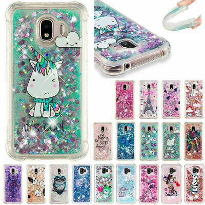 AU14.68 • Buy For Samsung Galaxy J2 Pro J5 J8 Patterned Dynamic Glitter Quicksand Case Cover