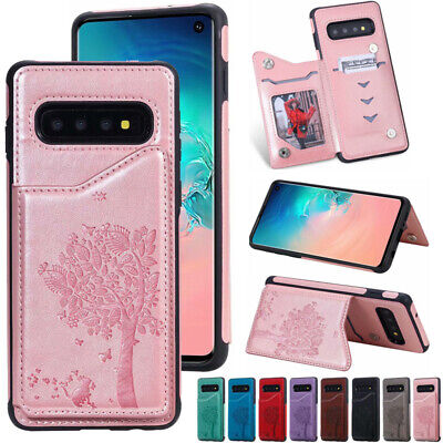 AU14.89 • Buy For Samsung S8 S21+ Note 8 9 20 Shockproof Leather Wallet Back Card Case Cover