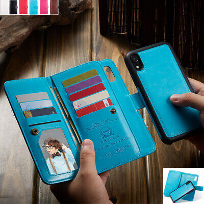 AU21.68 • Buy For IPhone 12 Pro Max XR 6 7 8 Removable Magnetic Flip Leather Wallet Case Cover