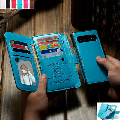 AU21.68 • Buy For Samsung S8 S9 S21+ Note 20 Removable Magnetic Leather Wallet Card Case Cover