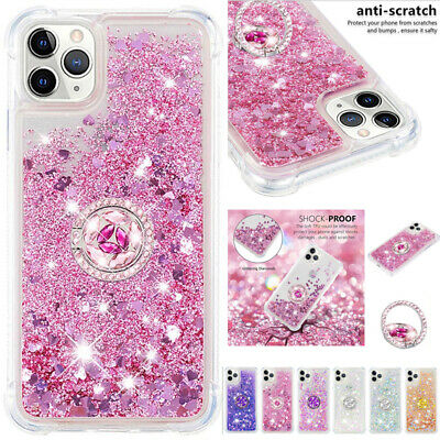 AU14.88 • Buy For IPhone 13 12 Pro Max XR Shockproof Glitter Quicksand Ring Holder Case Cover