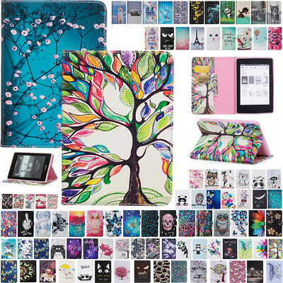 AU12.88 • Buy For New Kindle Paperwhite 10th Gen 2018 Pattern Flip Leather Wallet Case Cover