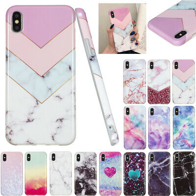 AU14.56 • Buy For IPhone 11 Pro Max XR 8+ Shockproof Marble Soft TPU Silicone Back Case Cover