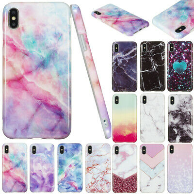 AU14.56 • Buy For IPhone 11 Pro Max XR 7 8 Shockproof Marble Soft TPU Silicone Back Case Cover