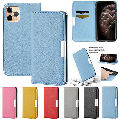 AU14.89 • Buy  For IPhone 12 Pro Max XR 7 8 Magnetic Flip Leather Wallet Card Stand Case Cover