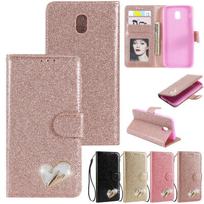 AU14.88 • Buy For Samsung Galaxy J3 J5 J7 Pro Glitter Magnetic Leather Wallet Case Stand Cover