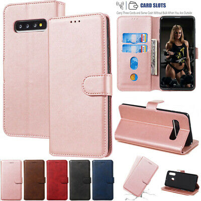 AU13.68 • Buy For Samsung S7 S10+ J8 A8 2018 Magnetic Flip Leather Wallet Case Stand Cover