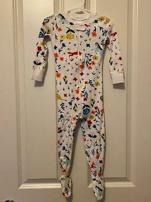 $18.50 • Buy HANNA ANDERSSON Organic 1 PC Footed Pajamas FLOWERS & ANIMALS Size 85 Cm US 2T