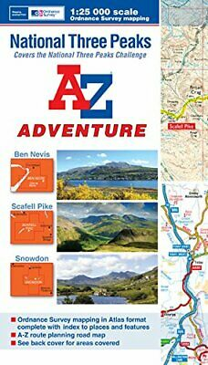 National Three Peaks Adventure Atlas (A-Z Adventure) By Geographers A-Z Map Co.  • 7.49£