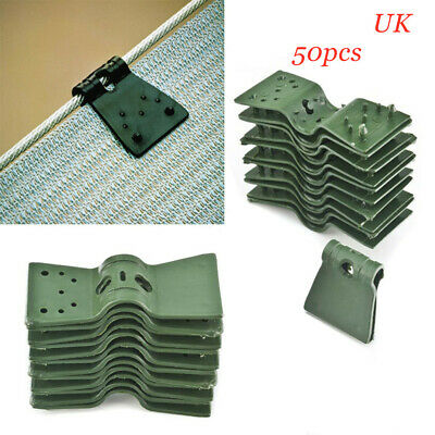 50pcs Sunshade Net Clip Greenhouse Shade Cloth Plastic Fence Butterfly Clips UK • 13.61£