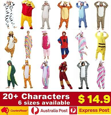 AU17.90 • Buy Onesie Kigurumi 16 Characters Factory Direct One-Piece Hooded Jumpsuit Multisize