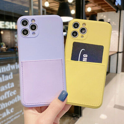 AU12.55 • Buy CARD HOLDER Case For IPhone 7 8 Plus 11 Pro Max Shockproof Cover Wallet Money