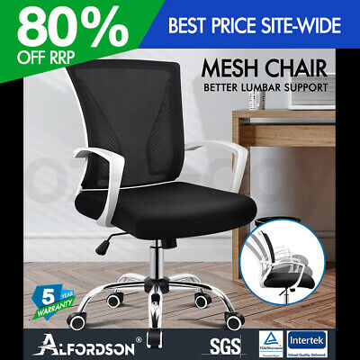 AU109.90 • Buy ALFORDSON Mesh Office Chair Executive Fabric Seat Gaming Racing Tilt Computer