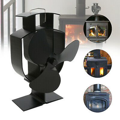 Heat Power Stove Top Fan For Wood Burner Log Burning Fire 3 Blades Eco-Friendly • 16.39£