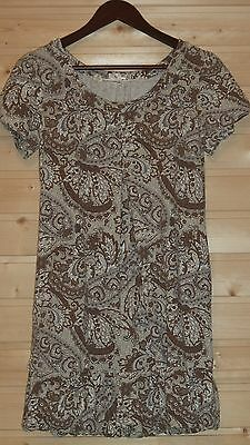 £7.19 • Buy By Ti Mo Stretch Dress Sz M Paisley Pattern Pleated Front Detail Side Pockets