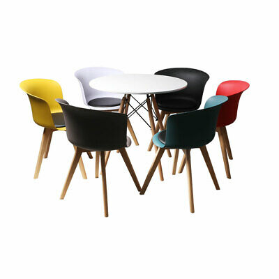 AU249.99 • Buy Dining Table Chairs Set Round Café Kitchen Office Meeting Wooden Leg Modern Seat