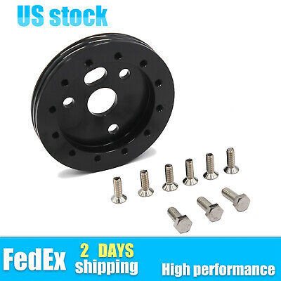 $13.08 • Buy New 0.5  Steering Wheel Hub Adapter Spacer 6 Hole For Grant APC 3 Hole Black