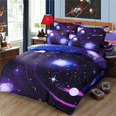 New 3D Galaxy Duvet Quilt Cover Bedding Set With Pillowcases Single Double King • 19.99£