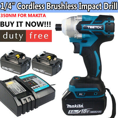 18V Cordless Combi Drill Impact Driver LED Worklight Screwdriver +Li-Ion Battery • 47.98£