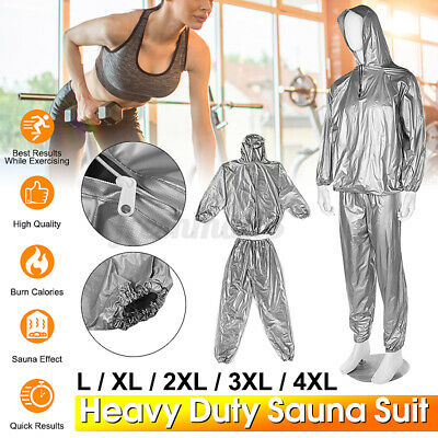 AU18.39 • Buy  Women Men Sweat Sauna Gym Suit Fitness Loss Weight Exercise Training Body