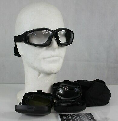 £33.99 • Buy Genuine Surplus ESS V-12 Goggles Military Issue Clear Smoke Yellow Lenses 20/200