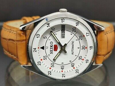 $ CDN43.84 • Buy Seiko 5 Automatic Men's Steel White Dial Day/date Vintage Japan Made Watch Run