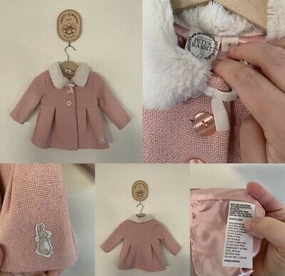 AU23.20 • Buy Size 0 - Peter Rabbit Pink Pleat Jacket With Fluffy Collar - NWOT