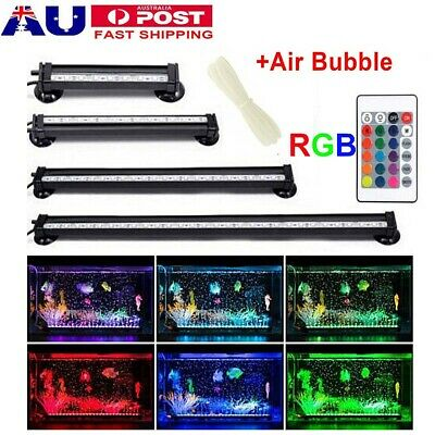 AU26.59 • Buy LED Aquarium Lights Submersible Air Bubble RGB Light For Fish Tank Underwater