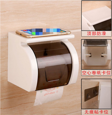 AU37.17 • Buy 1*Toilet Paper Roll Holder Bathroom Tissue Box Dispenser Waterproof High Quality