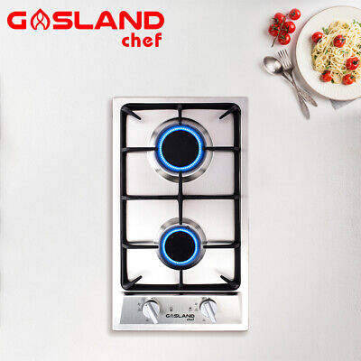 AU199 • Buy GASLAND Chef Gas Cooktop 2 Burner Gas Hob Cast Iron Cook Top Trivets Stove