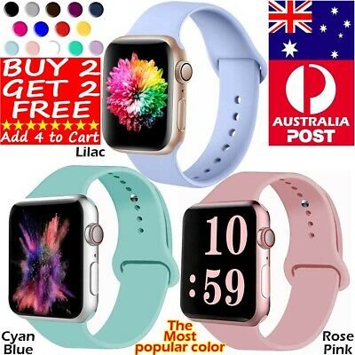 AU11.98 • Buy Silicone Band Strap For Apple Watch Series 6 5 4 3 2 1 SE 38mm 40mm 42mm 44mm