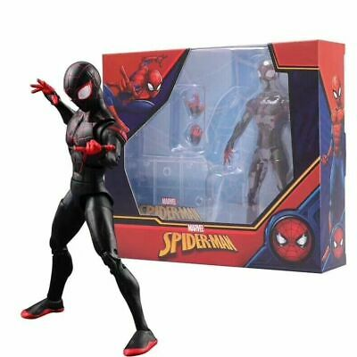 17CM Marvel Spider-Man Miles Morales Action Figure Toy Collectible Kids Gift Box • 16.95£