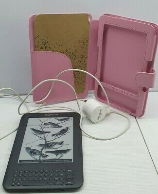 AU96 • Buy Amazon Kindle 3rd Generation Electronic Book Reader Pink Cover D00901 Works