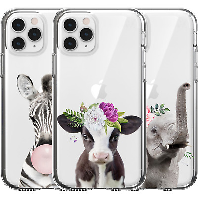 AU16.95 • Buy Silicone Cover Case Super Cute Animals Baby Cow Elephant Zebra Flowers Gum