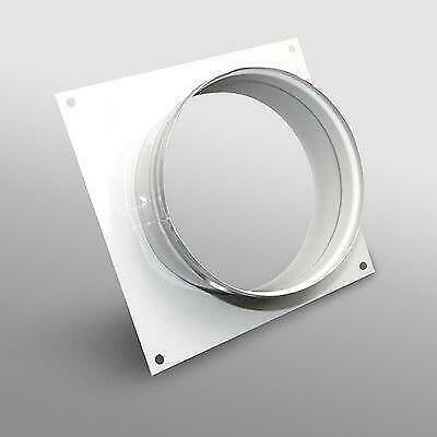 Ducting Wall Plate Spigot 100mm Hydroponic Grow Room Ventilation • 9.95£