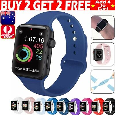 AU10.99 • Buy For Apple Watch IWatch Series 6 SE 5 4 3 38/40/42/44mm SILICONE Strap Wrist Band