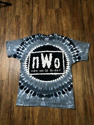 $ CDN150.38 • Buy Vtg 90s 1998 Liquid Blue NWO Tie Dye T-Shirt Mens Medium WCW WWE