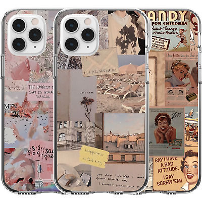 AU16.95 • Buy Silicone Cover Case Cute Pattern Candy Quote Poetry Sad Girls Happiness Is Key