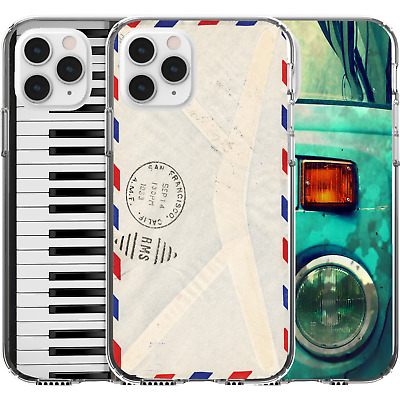 AU16.95 • Buy Silicone Cover Case Cute Pattern Old Vintage Style Envelope Car Piano Funny