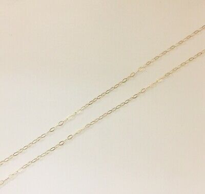 VINTAGE 9ct Gold Fine Trace Chain Necklace Thin Delicate 18 /46cm 0.4g • 50£